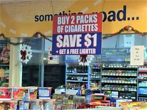 Product Displays promotional hanging sign 300x225
